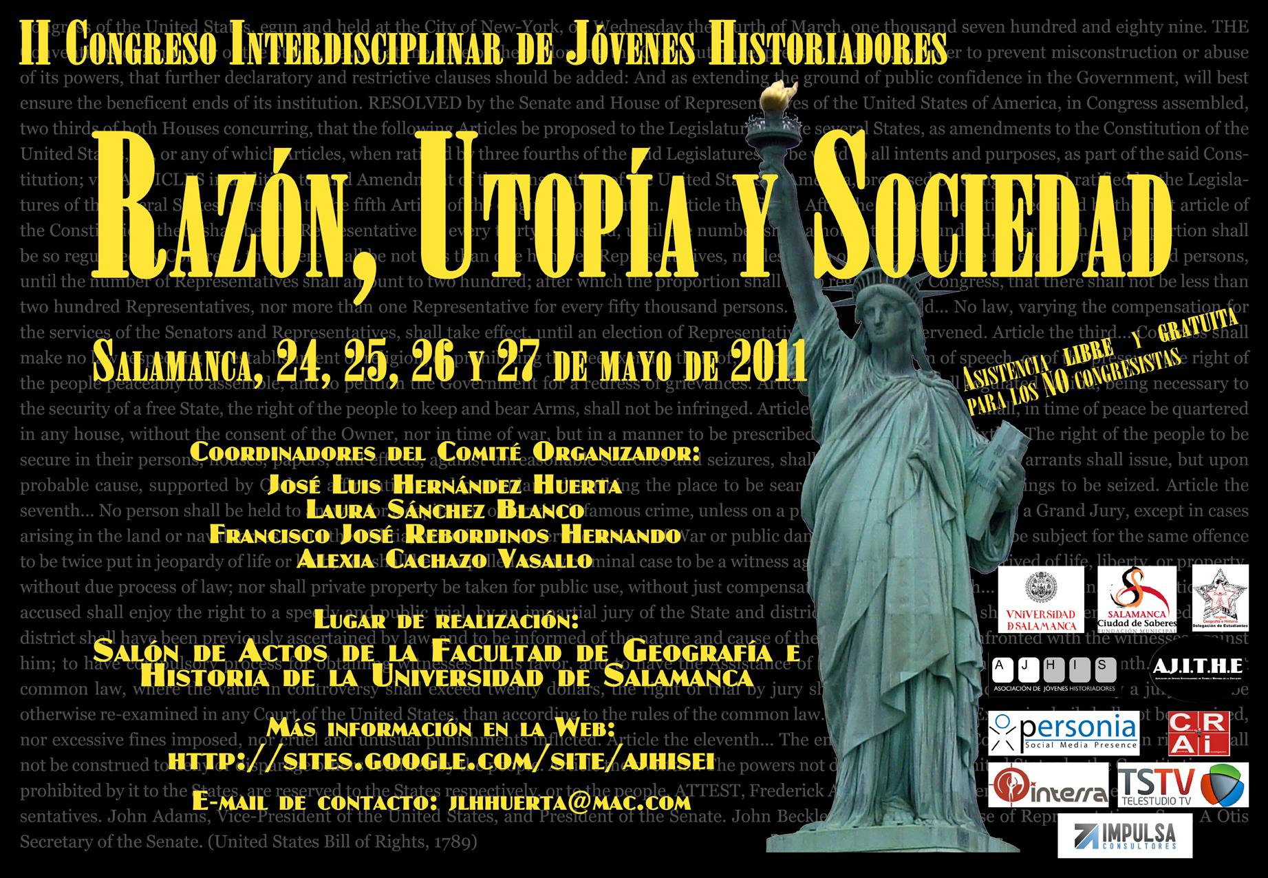 Cartel Razón, Utopía y Sociedad