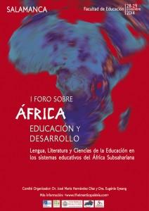 I Foro sobre África, Educación y Desarrollo - cartel