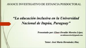 La educación inclusiva en la Universidad Nacional de Itapúa, Paraguay