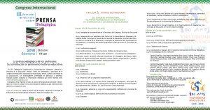 Avance de Programa PRENSA Congreso 2018