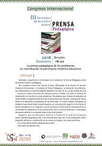 circular 3 PRENSA PEDAGÓGICA Congreso 2018