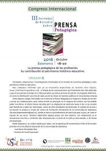 circular 4 Congreso PRENSA PEDAGÓGICA Salamanca 2018