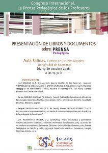 cartel Presentac libros congreso Prensa